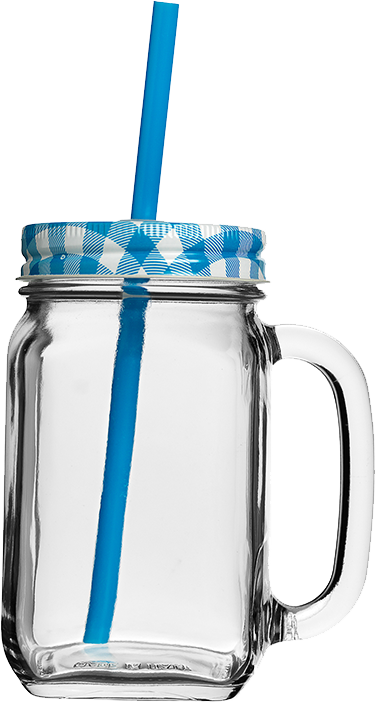Country Jar Blau 0.48l bedrucken